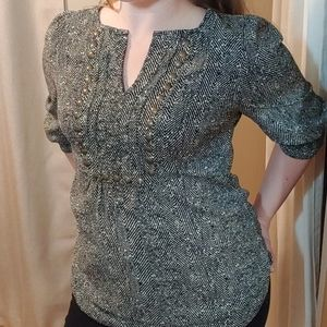 41 hawthorn tunic top w/ bronze accents